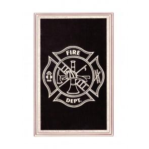 4 METAL CORNERS ENGRAVED US FIRE DEPT.