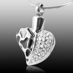 ENAMEL DIAMOND HEART