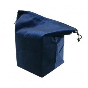 URN BAG  Midnight Blue Suede w/Cord